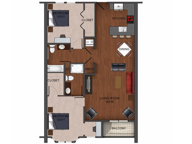 2 bedroom apartment home at Township 28