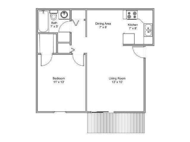 1 Bedroom. For The 1 Bedroom Floor Plan.