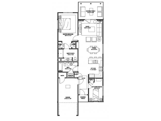 2 bedroom apartment home floor plan