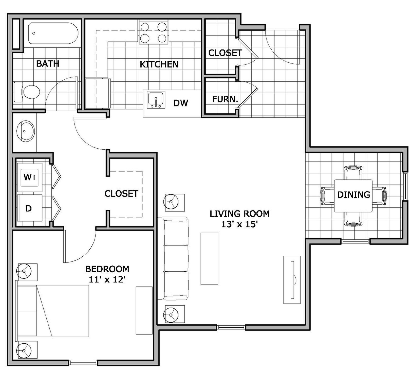 1 bed 1 bath apartment in springfield mo the abbey for Accessible house plans