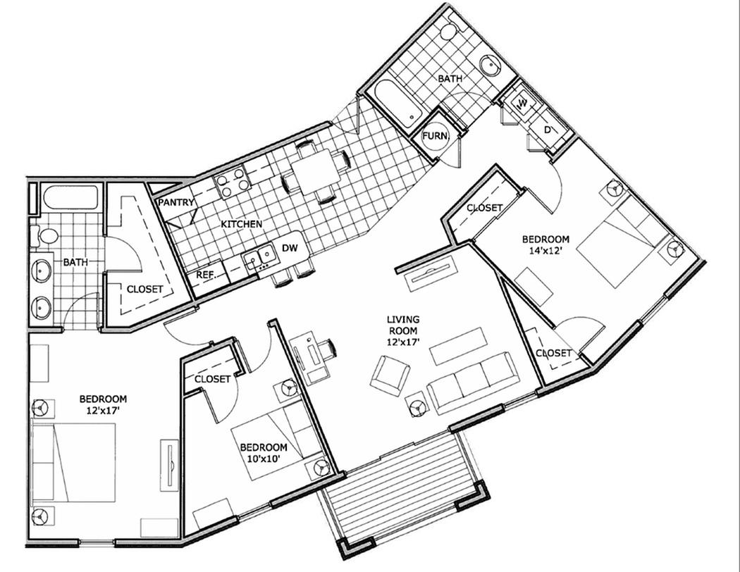 three bedroom apartment | Springfield, MO