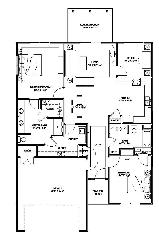 Tera Vera 55+ 2 bedroom floor plan image