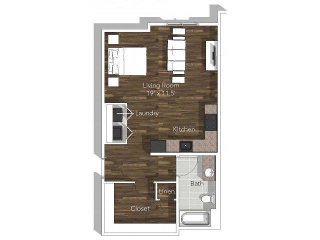 Studio Apartment at Verandas