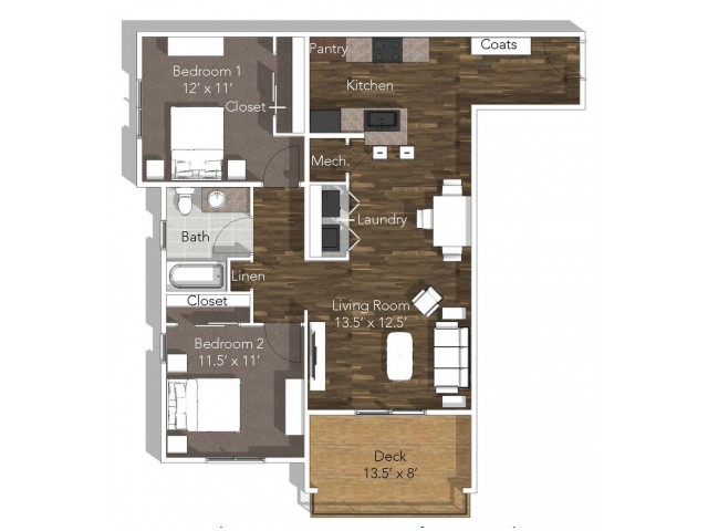 2 Bedroom Apartment at Verandas