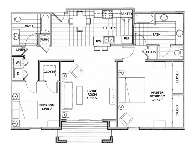 2 bedroom furnished apartment home