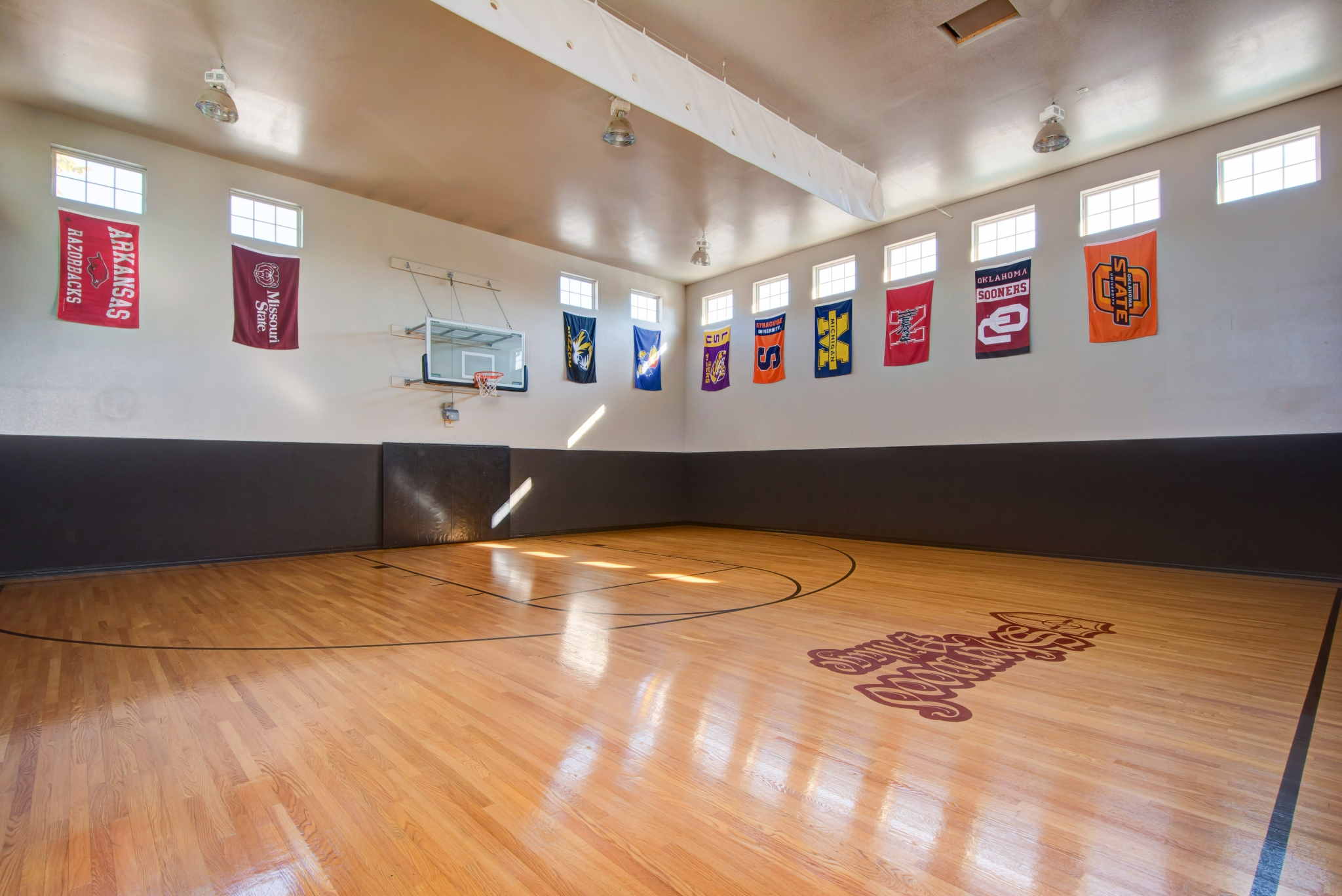 indoor basketball court amenity