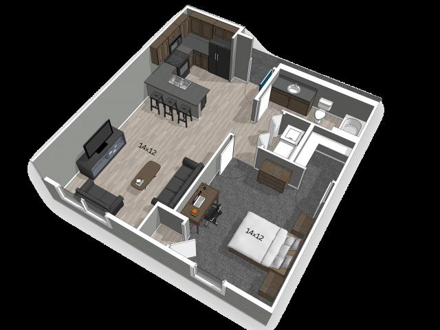 For The 1 Bedroom Floor Plan.