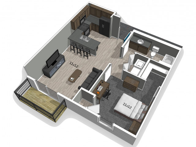 Furnished 1 bedroom at The Falcon