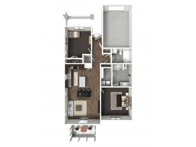 2 Bedroom Model C