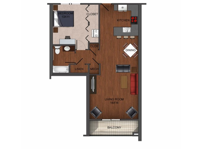 1 Bed 1 Bathapartment In Springfield Mo Township 28