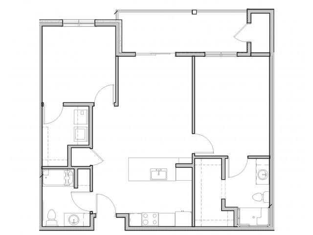 2 Bedroom C (ADA)