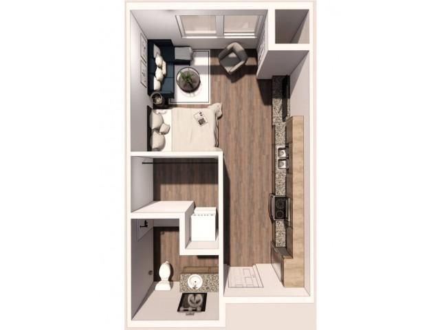 Micro Studio 3D Floor Plan