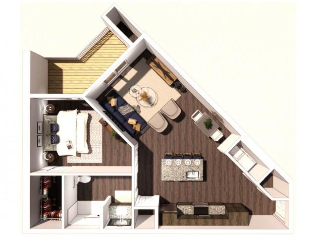 1 Bedroom A (ADA)