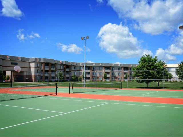 The Abbey - TLC Properties - Apartments Springfield, MO - Tennis - Tennis Court - Basketball Court
