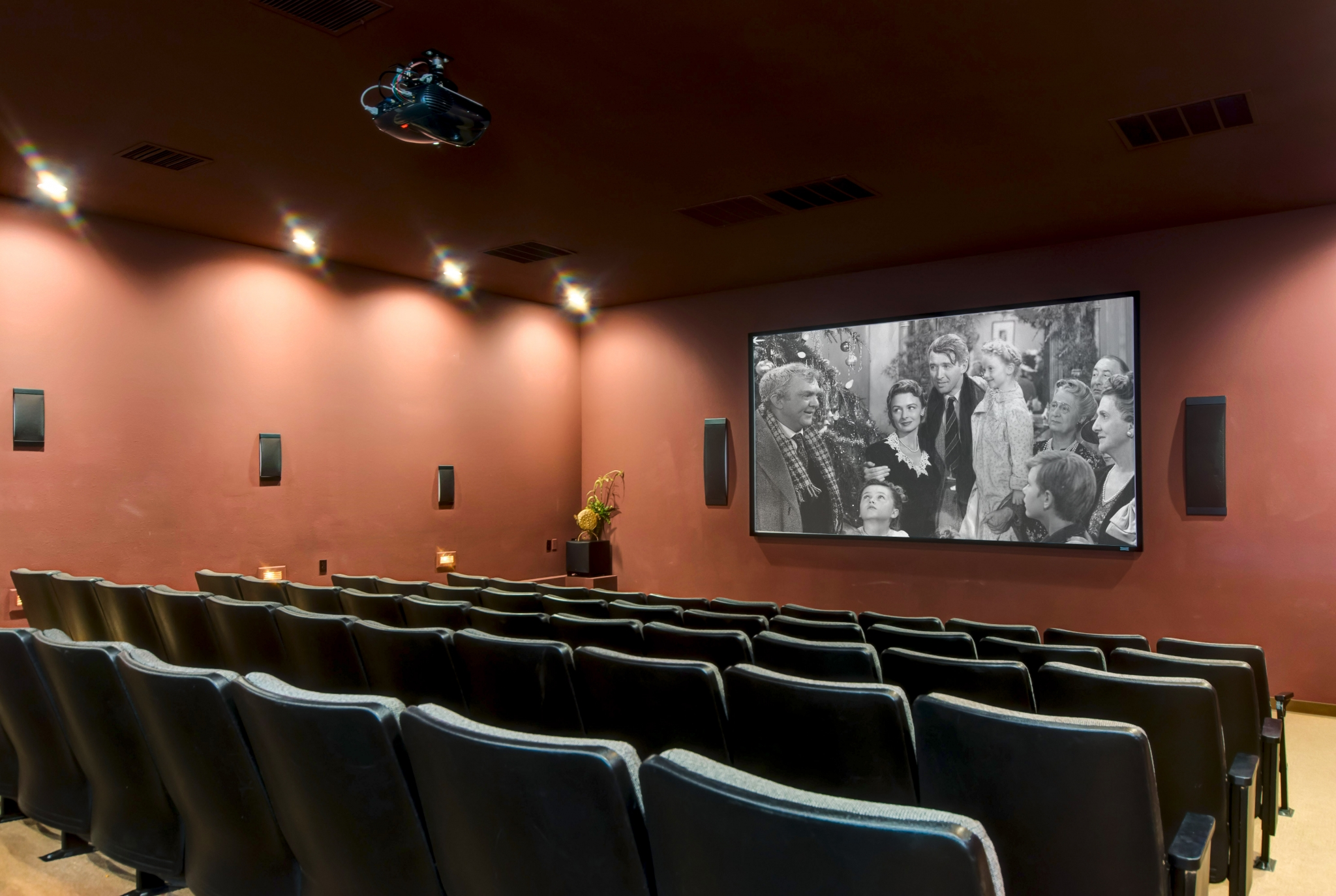Coryell Courts Apartments amenity private movie theater