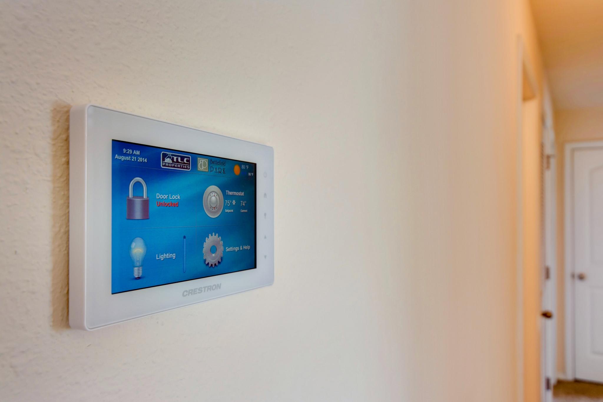 Battlefield Park Apartments Smart Technology Control Panel