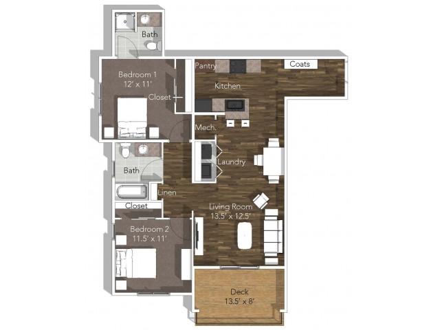 2 Bedroom Apartment at Verandas