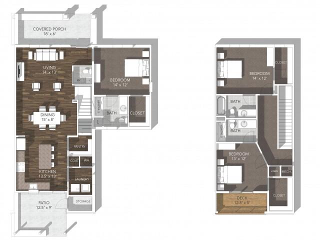 3 Bdrm Floor Plan