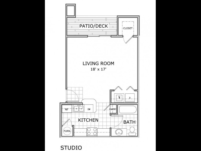 Coryell Crossing Studio Floor Plan