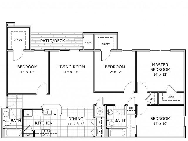 Coryell Crossing 4 Bedroom Floor Plan