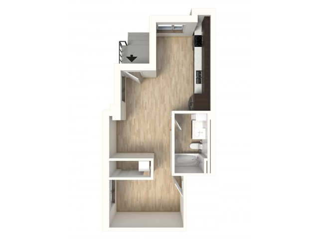 Floor Plan 2 | 1 Bedroom Apartments In Denver Colorado | Tennyson Place 2