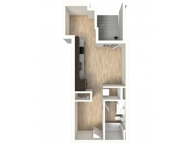 Floor Plan 4 | Denver Colorado Apartments | Tennyson Place 2