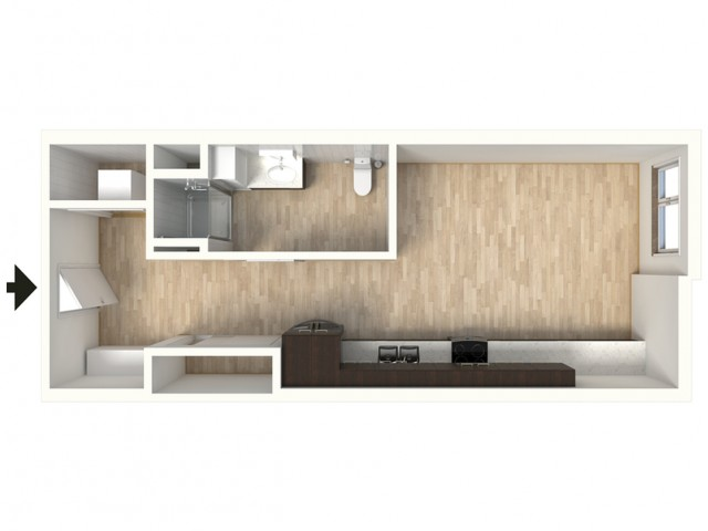Floor Plan 12 | 1 Bedroom Apartments In Denver Colorado | Tennyson Place 2