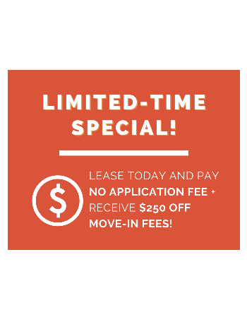 LOOK & LEASE TODAY! <br><br>Save $250 on move-in fees - offer ends on April 30th.