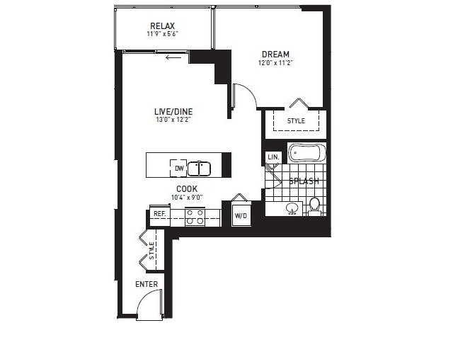 Large 1-Bedroom and 2-Bedroom Apartments for Rent | Luxury New ...