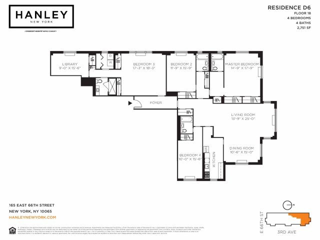 4 bed / 4 bath apartment in new york ny | hanley new york