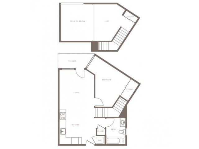 One Bedroom w/ Loft- A4L