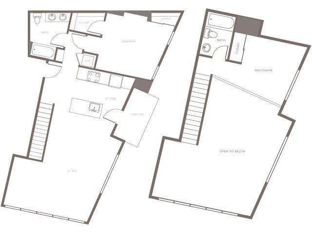 One Bedroom w/ Loft- A7L