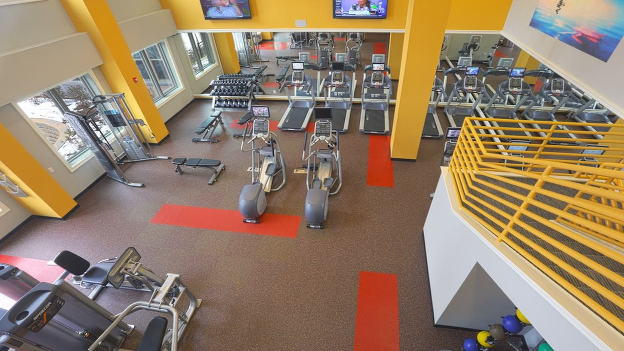 Expansive 24-Hour Fitness Center with Cardio Machines
