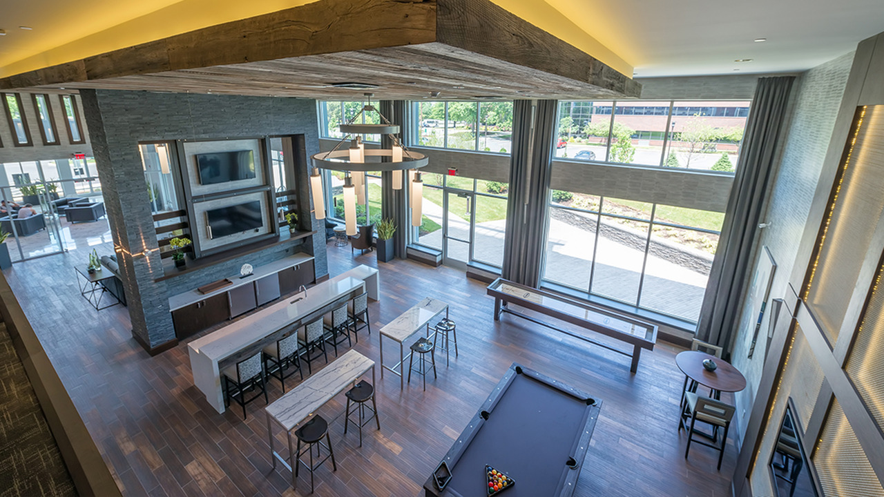 Gaming Lounge with Billiards and Shuffleboard