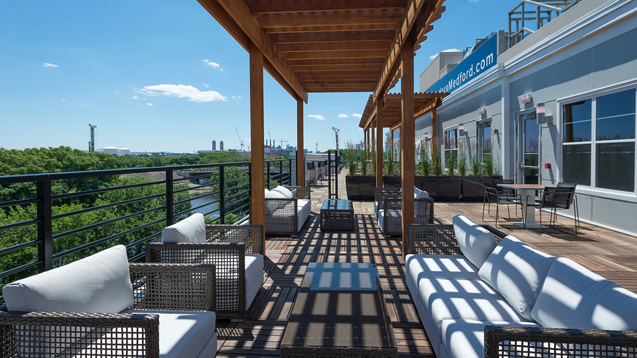 Rooftop Deck with Stunning City Views | Modera Medford