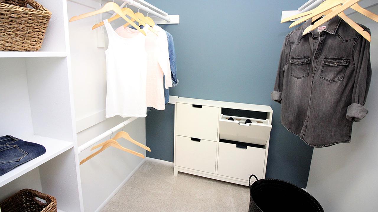 huge walk-in closets