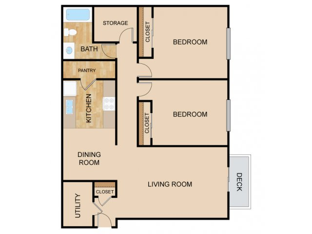 Two Bedroom Floor Plans | Apartments In Papillion Ne | Huntington Park