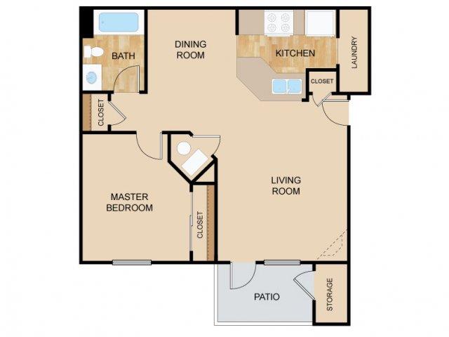 One Bedroom Floor Plans   Bellevue Apartments   The Vue