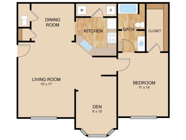 Floor Plan 2   Autumn Grove Apartments