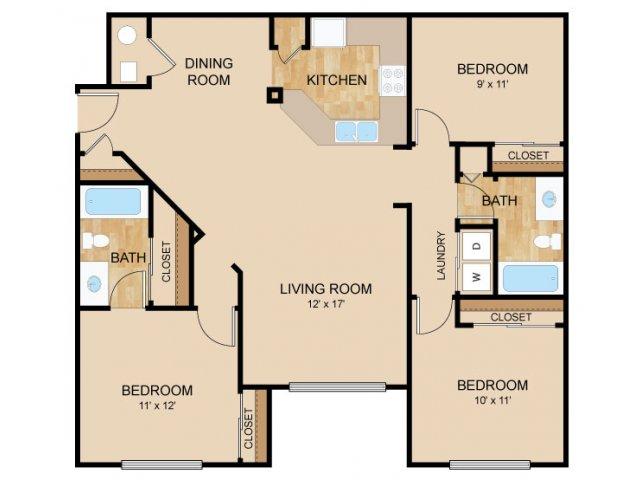 Floor Plan 5   Autumn Grove Apartments