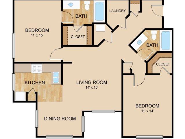 Floor Plan 4   Autumn Grove Apartments
