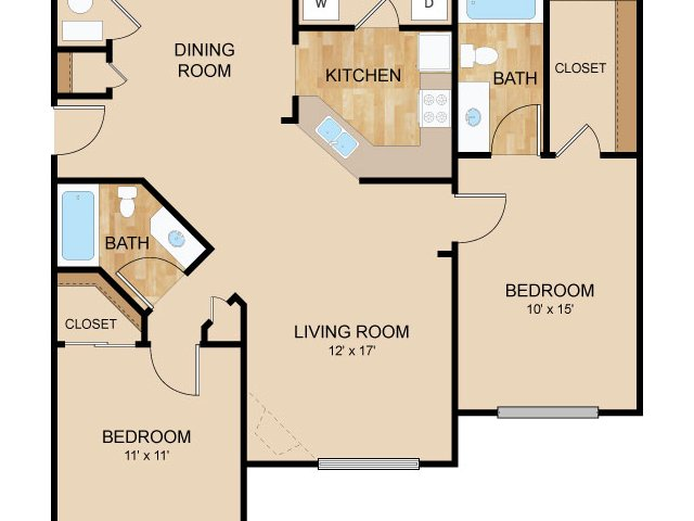 Floor Plan 3   Autumn Grove Apartments