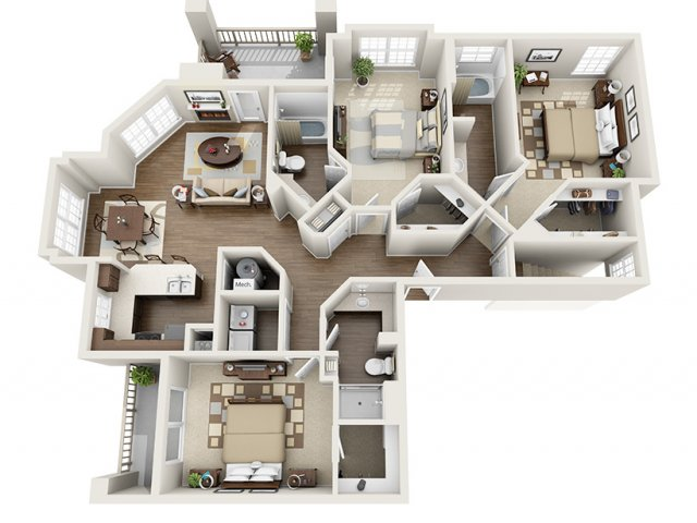 3 Bedroom Floor Plan | ALARA Greenwood Village