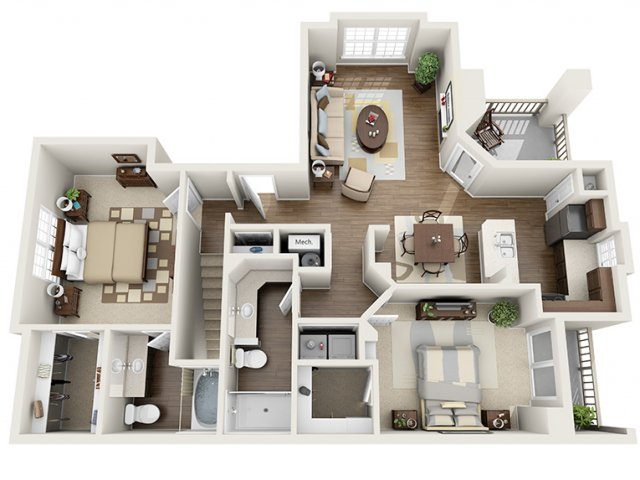 2 Bedroom Floor Plan | ALARA Greenwood Village