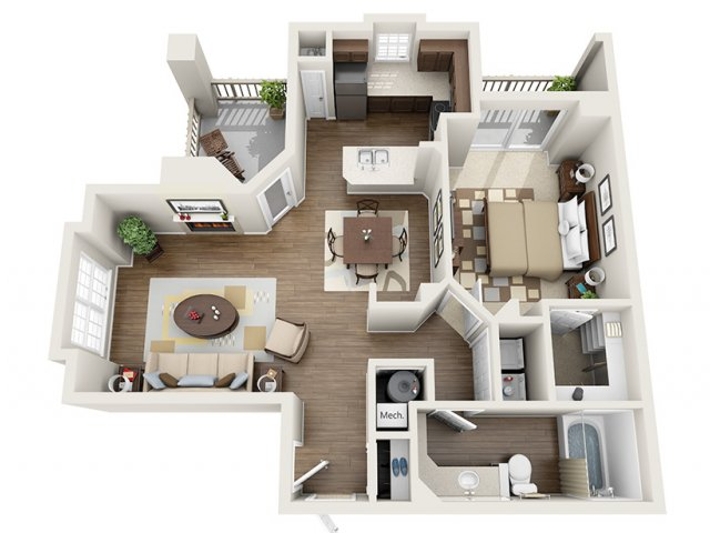 1 Bedroom Floor Plan | ALARA Greenwood Village