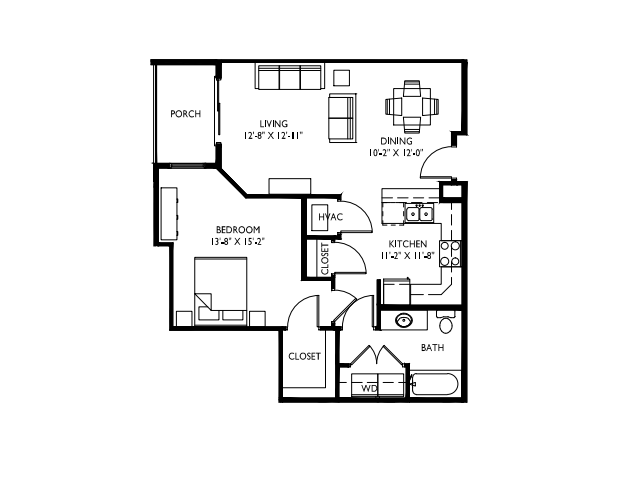 ADA Accessible-9 foot ceilings-Stainless steel appliances-Wood plank floors-Granite countertops in baths -Full-size washer and dryer- Walk in master closet -Oversized windows-Spacious deck