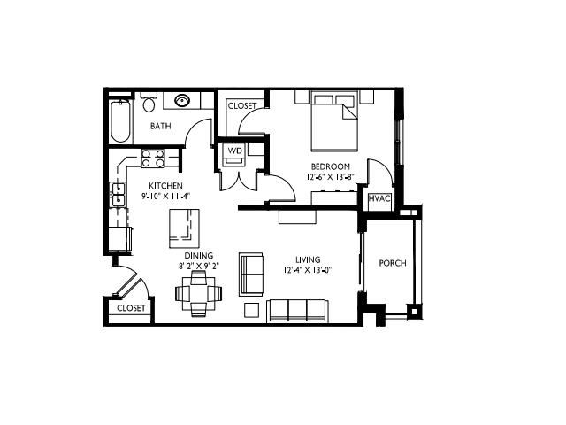 9 foot ceilings-Stainless steel appliances-Wood plank floors-Large Quartz kitchen island-Granite countertops in baths -Full-size washer and dryer- Walk in master closet -Oversized windows-Large patio or deck (some w/ private entry)