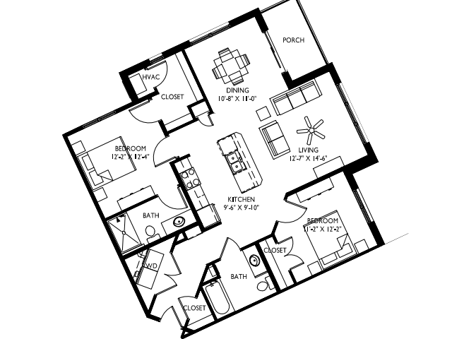 ADA Accessible- Extra large windows-9 foot ceilings-Stainless steel appliances-Wood plank floors-Extra large quartz kitchen island-Granite countertops in baths -Full-size washer and dryer- Walk in master closet with window - Large deck