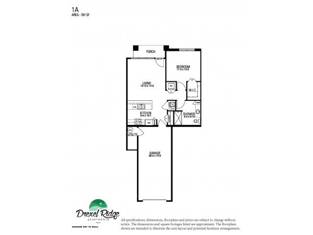 1 Bed 1 Bath Style A
