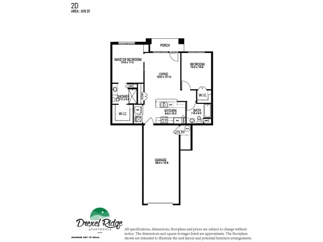 2 Bed 2 Bath Style D